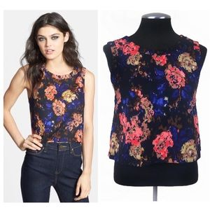 ASTR - Floral Cropped Shell Top
